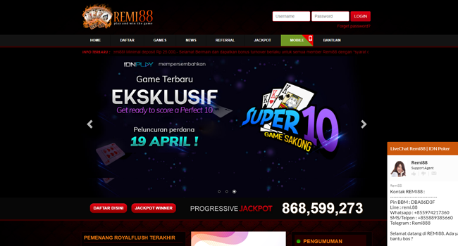 Login IDN Poker Android